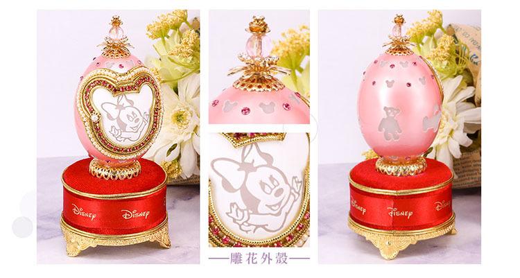 迪士尼純金蛋雕擺飾浪漫的外型也十分適合作為結婚禮物