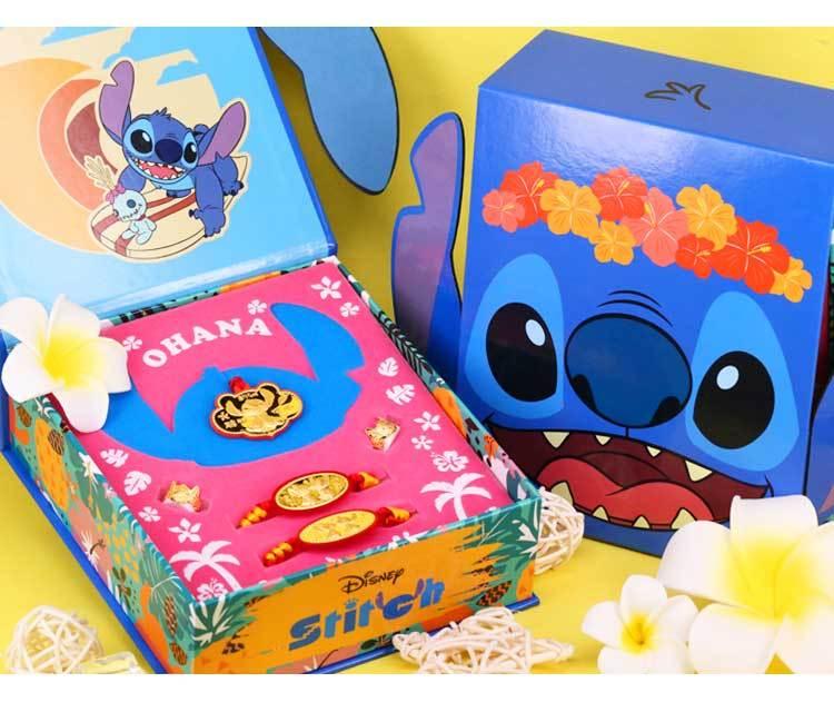 0.3錢史迪奇金飾禮盒,送給生小孩的朋友史迪奇金飾禮盒,是最高貴的祝福