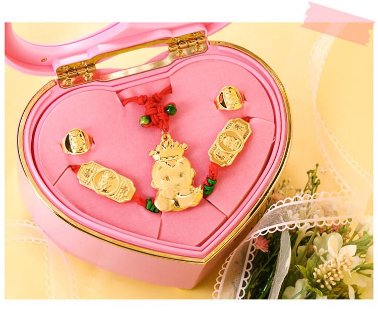 冠軍寶寶彌月音樂禮盒純金打造大方好看