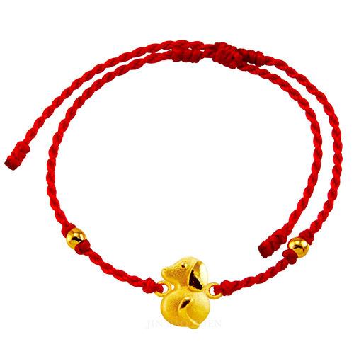 12生肖黃金手鍊簡約好搭非常適合做為生日禮或彌月手鍊