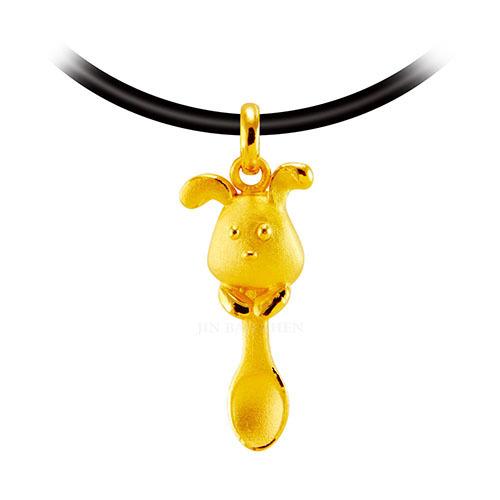 狗年彌月金飾推薦首選狗狗金湯匙項鍊墜精緻好看的外型送禮超適合